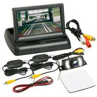 "EEEkit Car Backup Camera Rear View System Night Vision, 120°C Wide Angle IP68 Waterproof + Wireless 4.3"" TFT LCD Monitor"