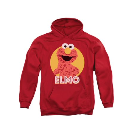 Sesame Street Classic TV Show Elmo Cartoon Scribble Adult Pull-Over Hoodie