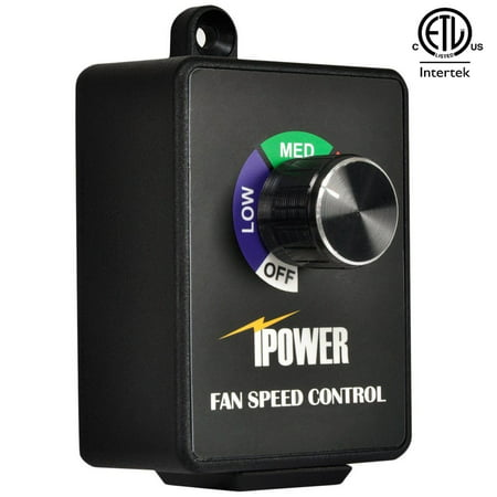 iPower Exhaust Fan Speed Controller Adjuster for Duct Inline Fan Vent Blower 350W Fan Controller Program