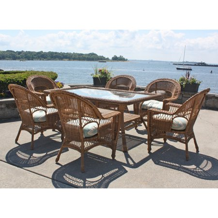(August Grove Camacho 7 Piece Dining Set with Cushion)