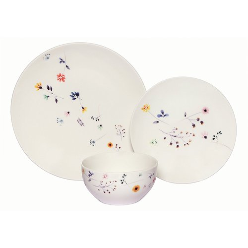 August Grove Barber Scattered Wildflowers Coupe 36 Piece Dinnerware