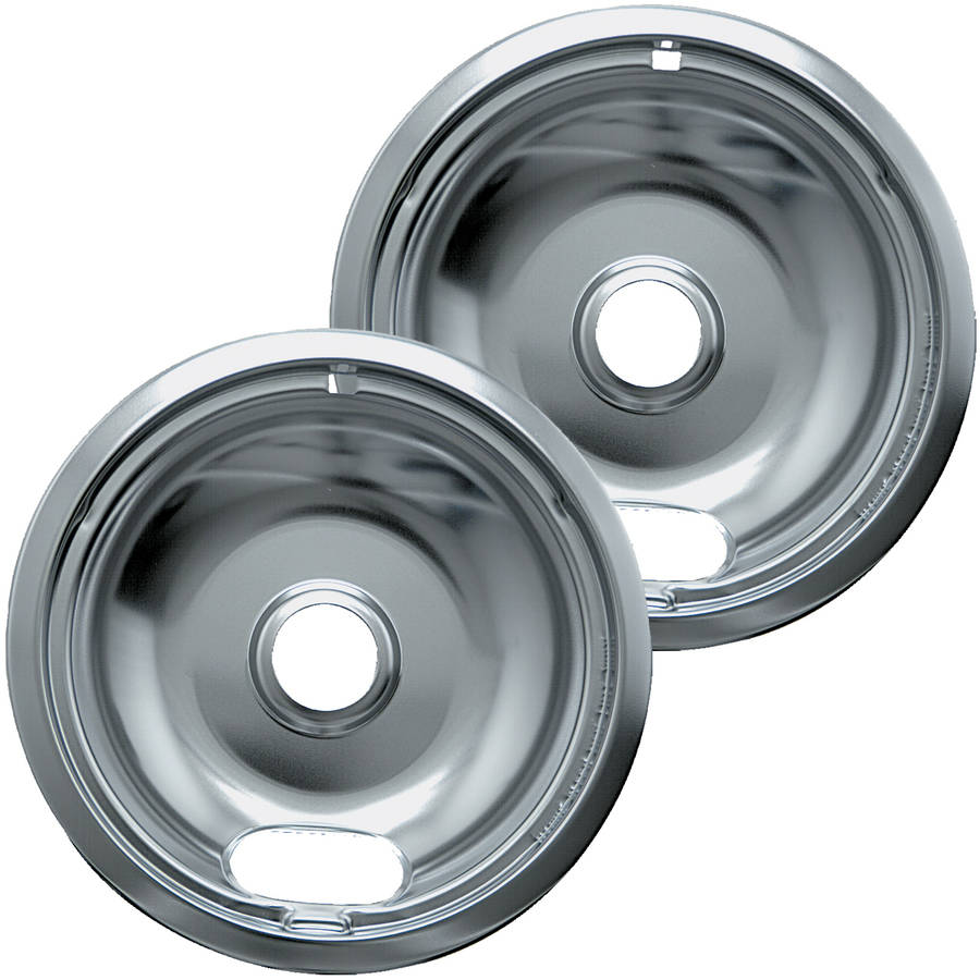Range Kleen Small Drip Bowl, Style A, Chrome, Set of 2