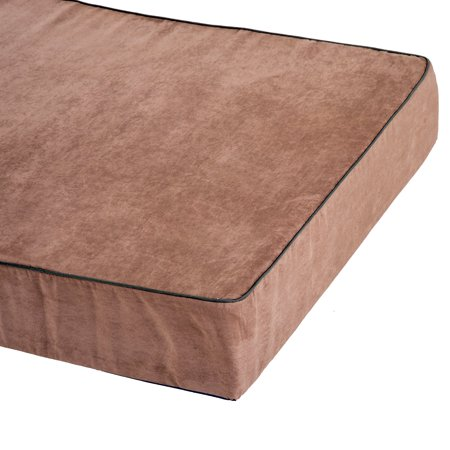 """48""""x30"""" Orthopedic Dog Bed Memory Foam with Pillow Brown - image 4 of 7"""