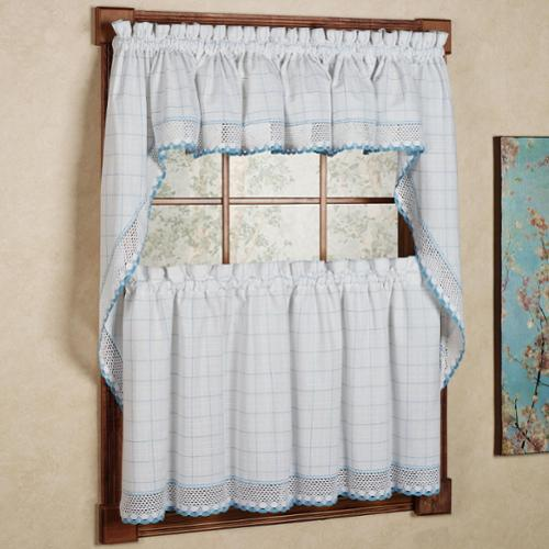 white kitchen curtains with black trim 100 percent cotton classic white blue window pane pattern 777