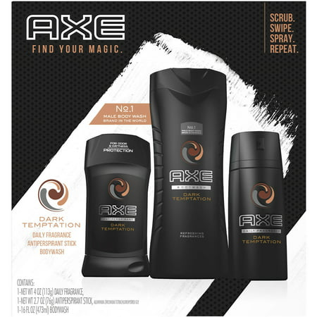 AXE Regimen Gift Set for Men Dark Temptation 3 (Perfectly Happy Gift Set)