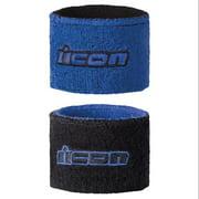 Icon Wristbands  Blue/Black