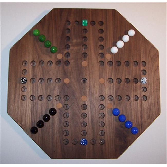 Charlies Woodshop W-1941alt.-2 Wooden Marble Game Board - Black Walnut