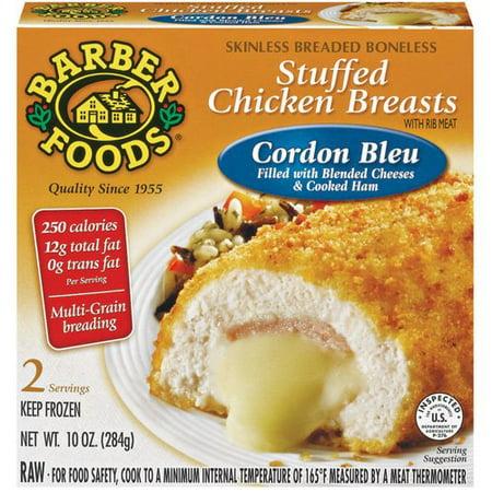 Barber Foods Cordon Bleu Stuffed Chicken Breasts, 10 oz - Walmart.com