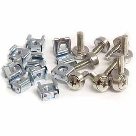 StarTech.com M5 Mounting Screws and Cage Nuts for Server Rack Cabinet, 50pk