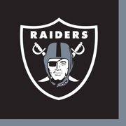 Las Vegas Raiders Beverage Napkins, 16 Count for 8 Guests