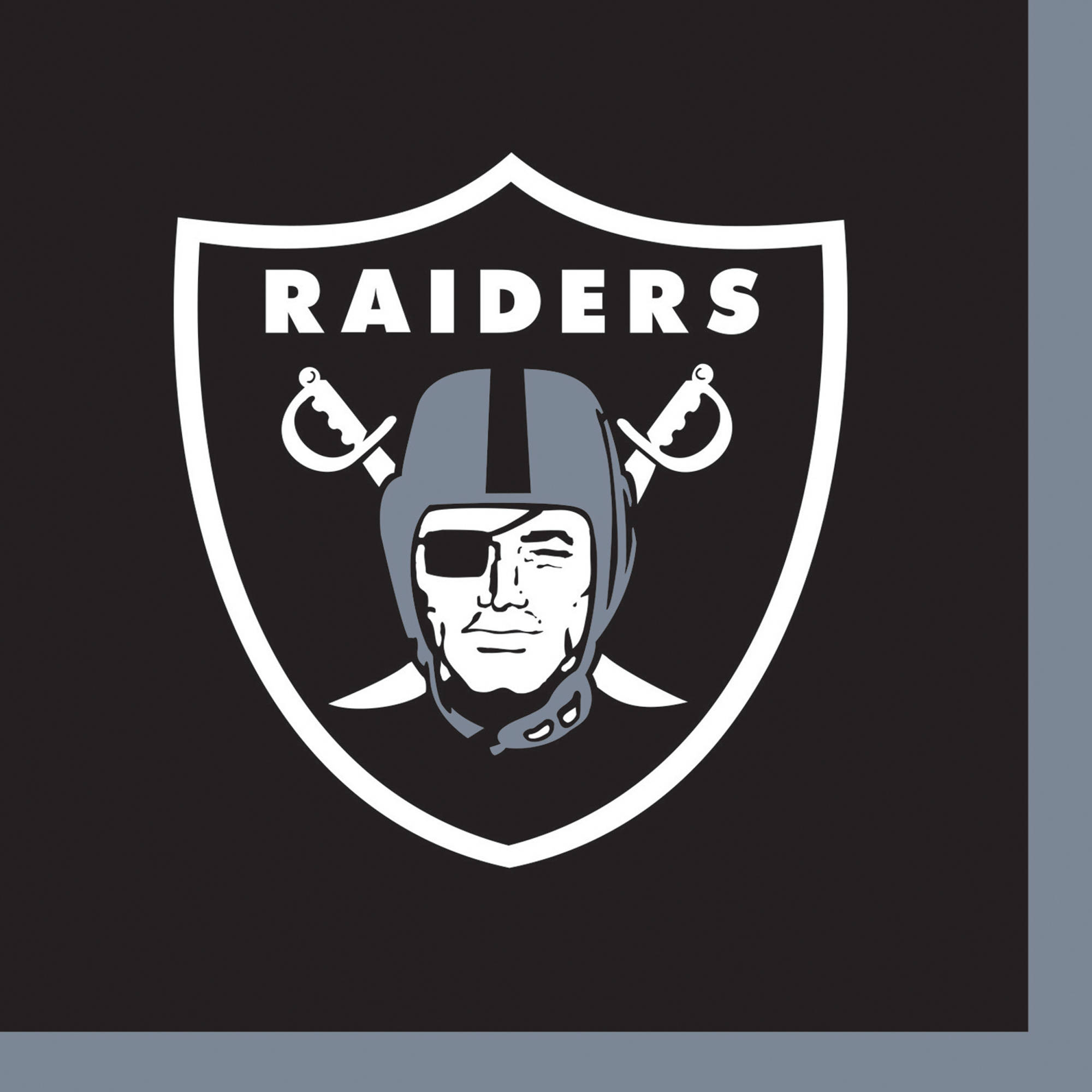 Oakland Raiders Beverage Napkins, 16-Pack