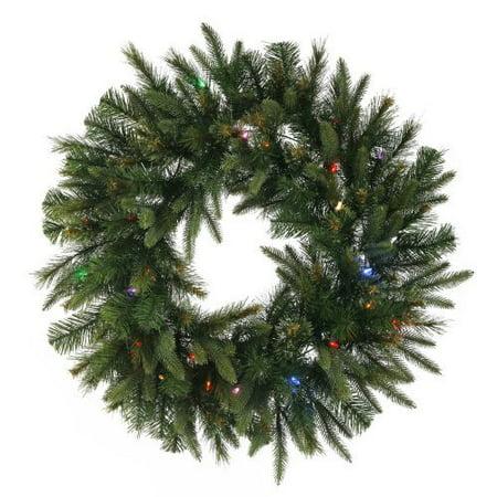 Cashmere Wreath Pre-Lit LED Wreath ()