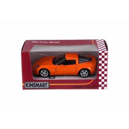 2007 Chevy Corvette Z06, Orange - Kinsmart 5320WOR - 1/36 Scale Diecast Model Toy Car
