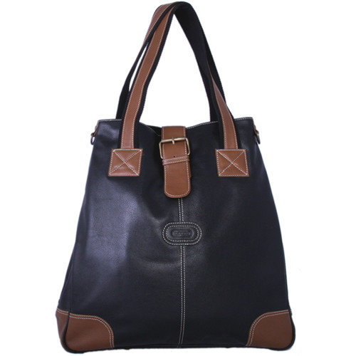 Leatherbay Milan Laptop Compatible Flap Leather Tote Bag