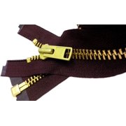 """ZipperStop Wholesale Authorized Distributor YKK® 27"""" inch Chaps Extra Heavy Duty Weight Jacket Zipper YKK #10 Brass ~ Separating ~ 864 Cranberry Wine (1 Zipper/pack) Crafter's Special"""