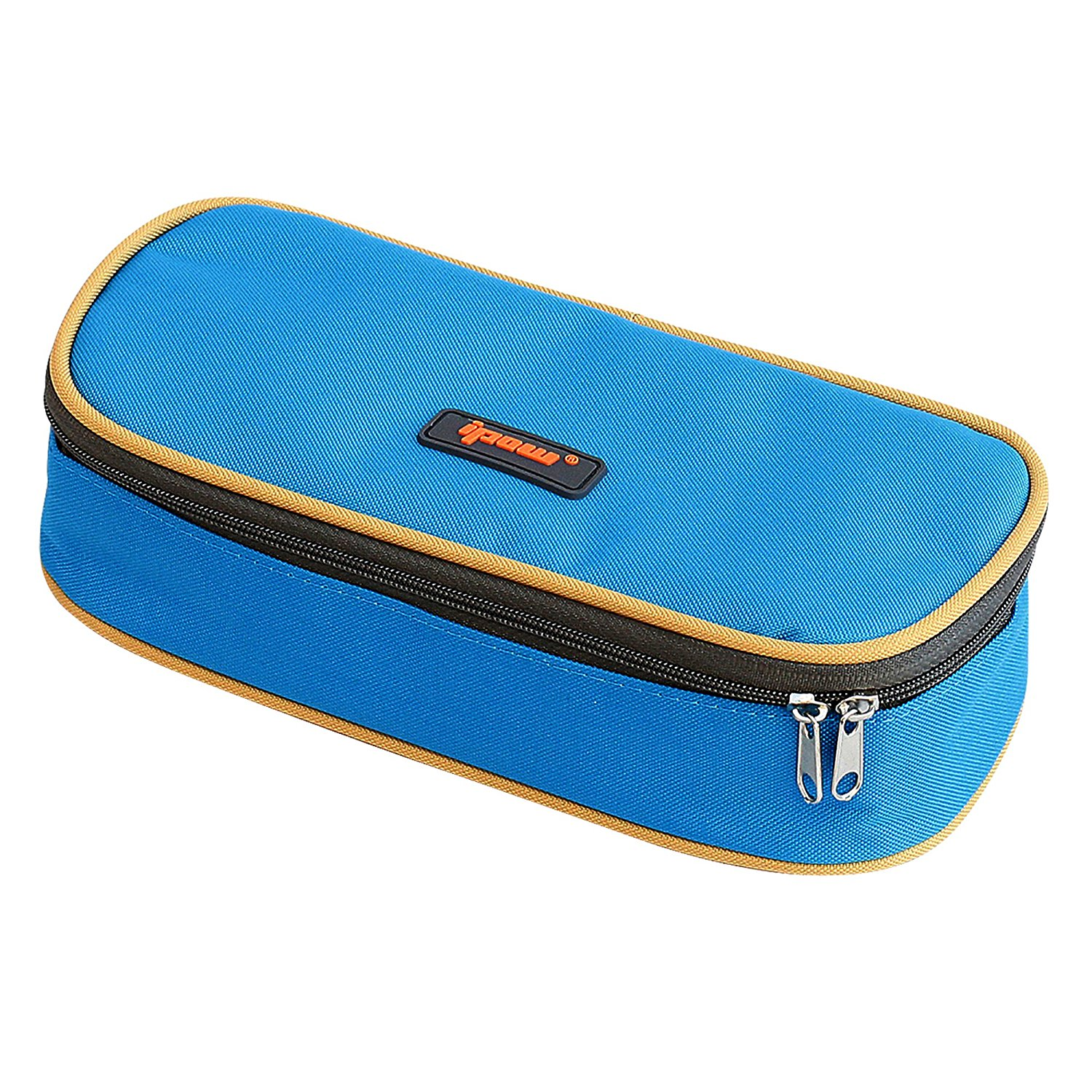 Pencil Case, IPOW Big Capacity Pencil Bag Pouch with Durable Zipper Students Stationery Pen Bag for Pens, Pencils, Markers, Eraser, Highlighters and Other School Supplies, Blue