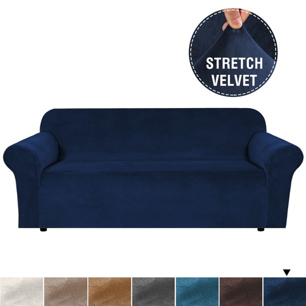 Velvet Plush Sofa Slipcover Cover 3