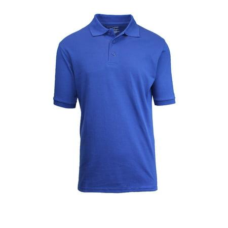 8a35335e GBH - Mens Short Sleeve Pique Polo Shirts Uniform Fitted - Walmart.com
