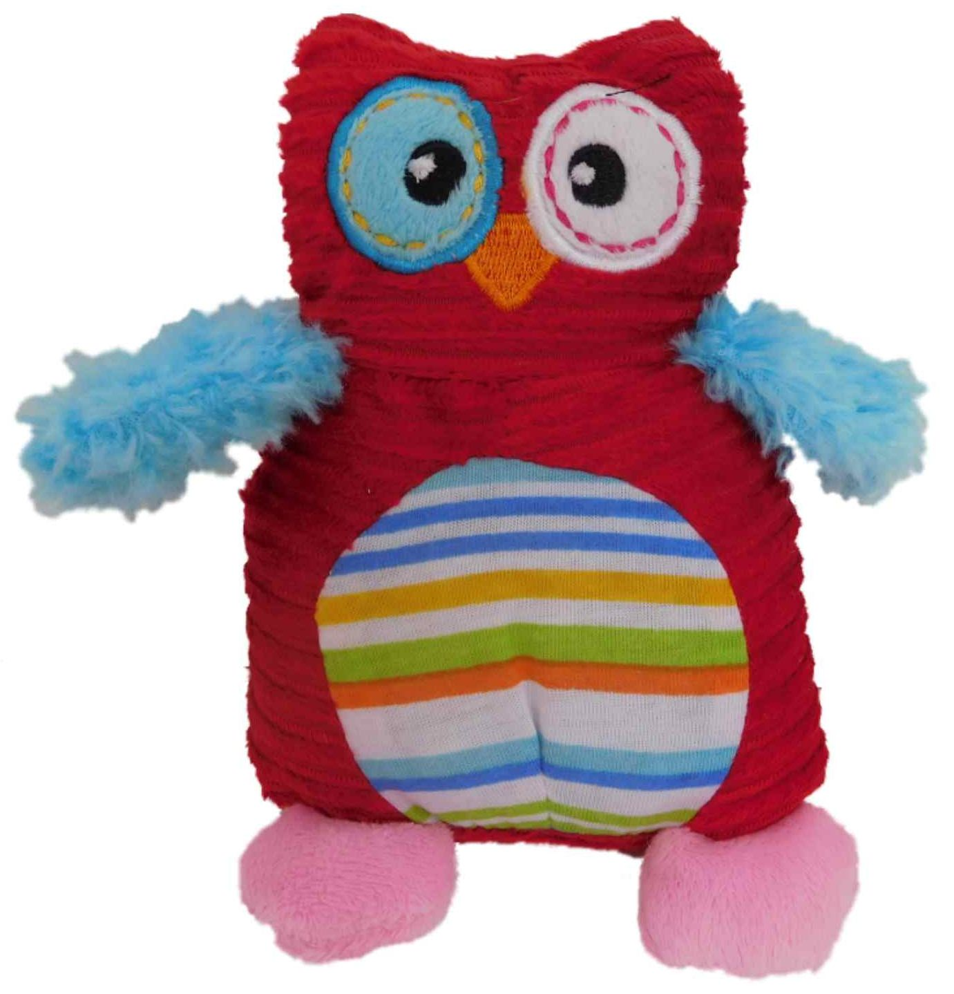 Valentines Day Red Cord Ribbed Owl Stuffed Animal 6 Plush Love Bird