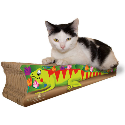 Imperial Cat Scratch 'n Shapes Small Iguana Recycled Paper Scratching Board