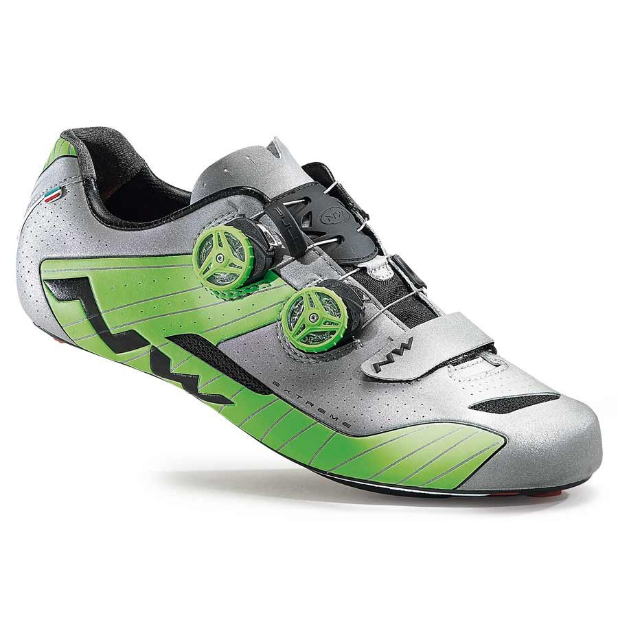 Northwave, Extreme, Road shoes, Silver/Green, 42.5