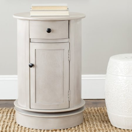 Cabinet Accent Table - Safavieh Tabitha Solid Swivel Accent Table with Drawer and Cabinet