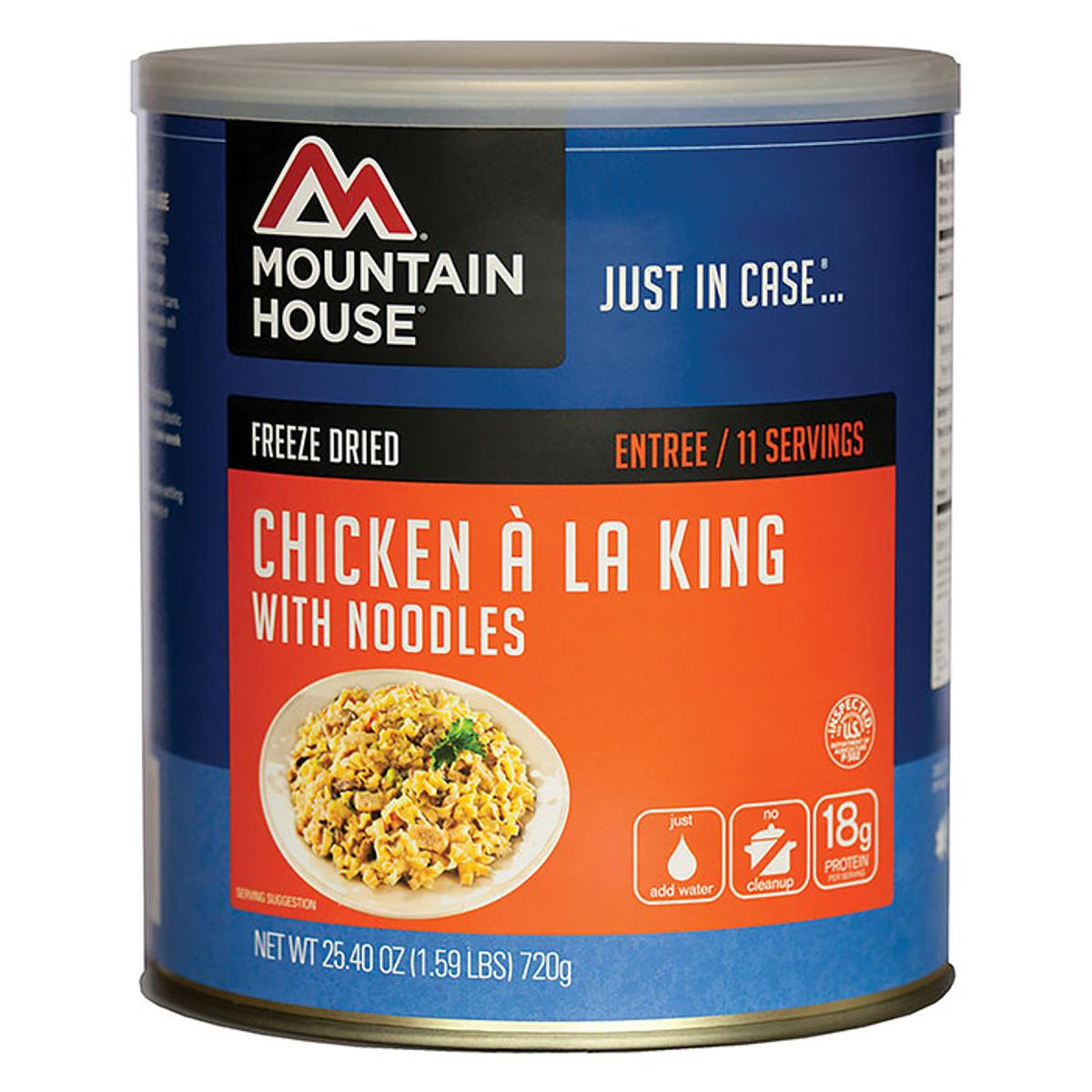Click here to buy Mountain House #10 Chicken Ala King & Noodles Can 30111 by Liberty Mountain.