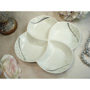 D'Lusso Designs Shimmer Design 4-section Dish
