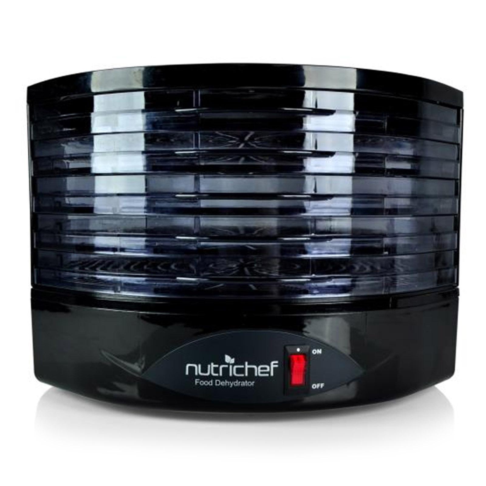 NutriChef Food Dehydrator - Electric Kitchen Dehydrator-Black