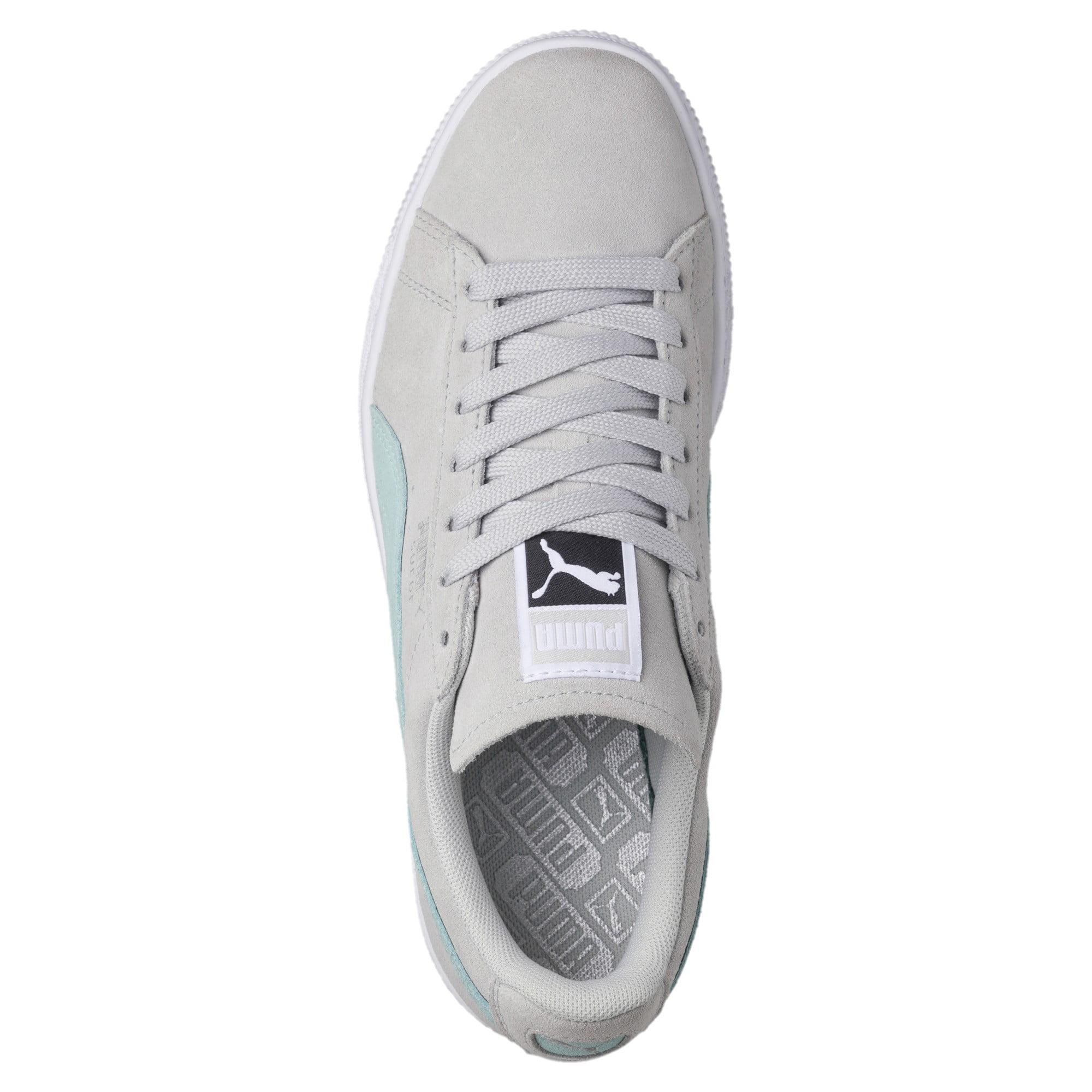 a9de5bb568b134 PUMA - Puma Women s Suede Classic Glacier Gray   Island Paradise Ankle-High  Fashion Sneaker - 9M - Walmart.com
