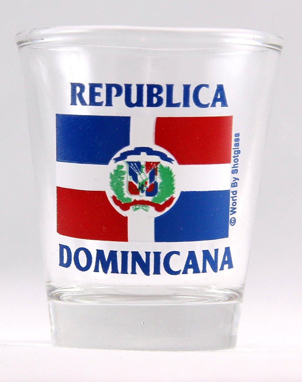 Dominican Republic Flag Shot Glass by World By Shotglass