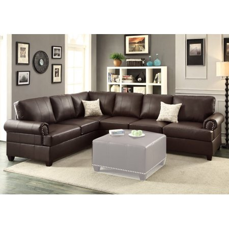 Simple Relax Reversible Loveseat Wedge Couch Sectional Sofa Trim ...