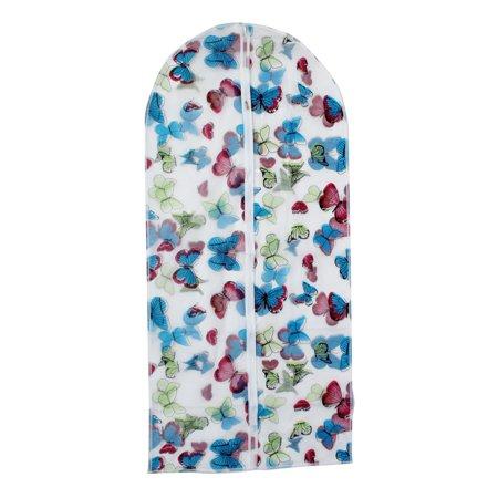 Unique Bargains Suit Garment PEVA Butterfly Pattern Dustproof Cover Bag 130cm x 60cm