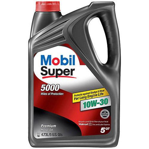 Mobil Super 10W-30 Conventional Motor Oil, 5 qt.