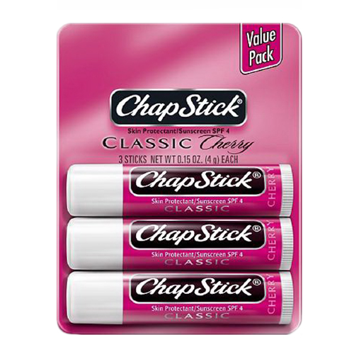 Chapstick Classic Lip Balm With Cherry Flavour - 3 Ea / Pack, 12 Packs, 2 Pack