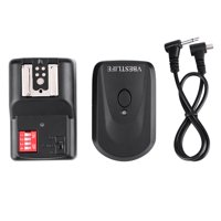 Ymiko Wireless Flash Trigger Set With 1 Transmitter 1 Receiver 1 Sync Wire Cable, Wireless Flash Trigger Set, Transmitter