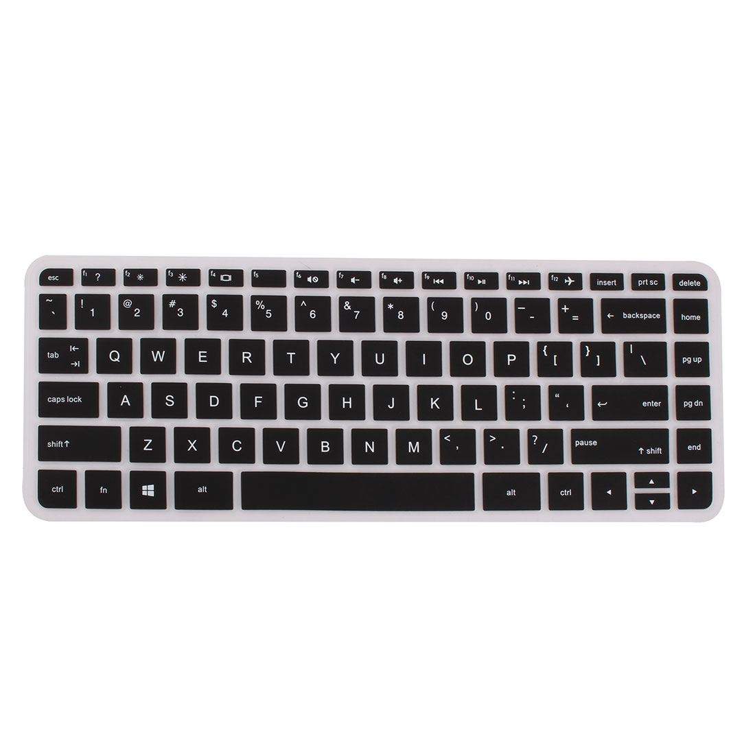 Computer Silicone Anti Dust Protector Keyboard Cover Black for HP 14 inch