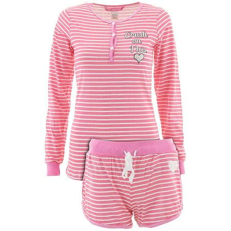 Love Loungewear Juniors Fireside Crush On This Shorty Valentines Pajamas - Valentines Pajamas