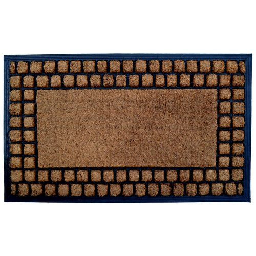 Imports Decor Molded Checker Border Doormat