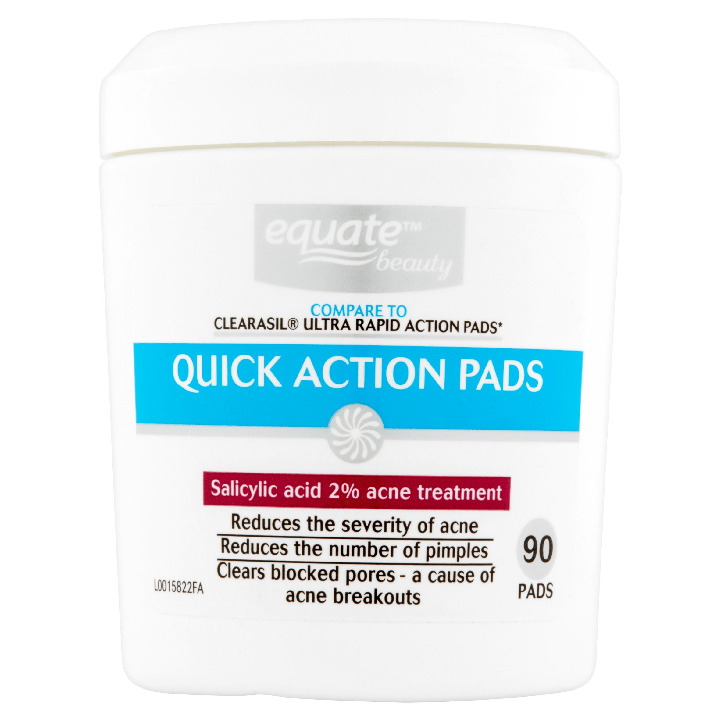 Equate Beauty Quick Action Acne Pads, 90 Ct
