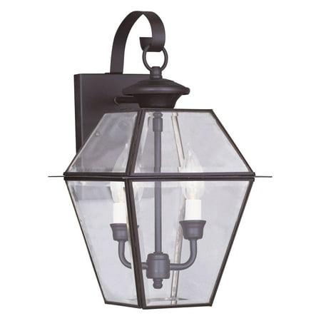 - Livex Lighting Westover 2 Light Outdoor Wall Lantern