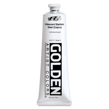 Golden Heavy Body Acrylic Paint - Iridescent Stainless Steel (Coarse), 5 oz tube