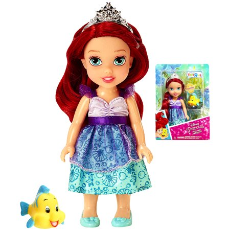 Petite Ariel with Flounder Princess Doll 6