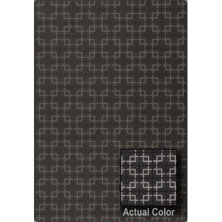 Milliken Imagine Area Rugs - URBANDALE Contemporary Modern Black Boxes Blocks Interlocking Cubes Rug (Milliken Modern Times Element)