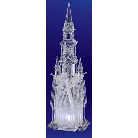 Religious Crystal - Pack of 2 Icy Crystal Decorative Religious Four Angel Cathedral Figurines 17.5