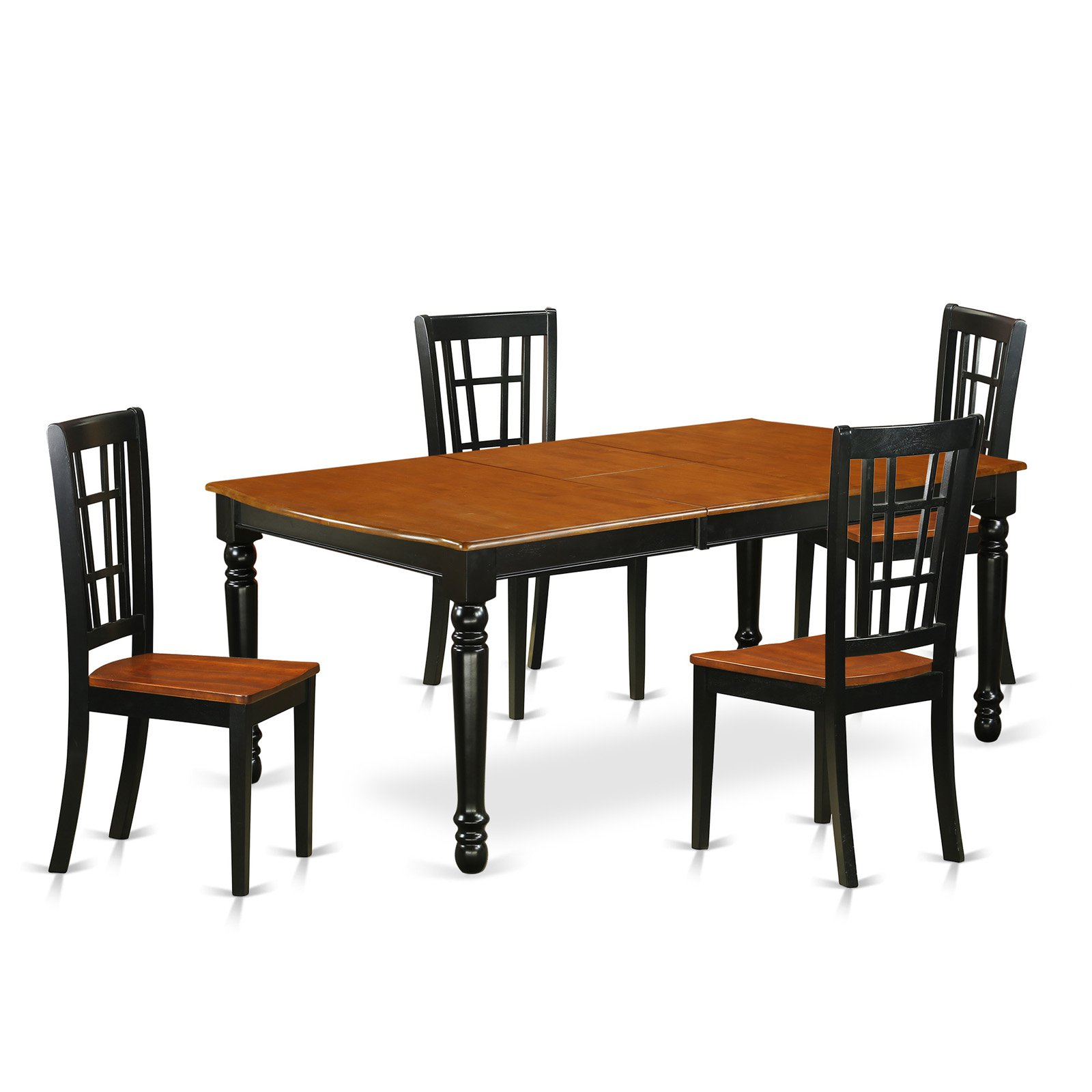 East West Furniture Dover Doni5 Five Piece Extension Dining Table