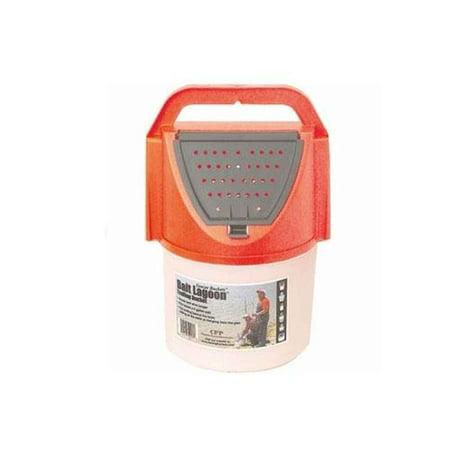 Challenge Plastics Bait Lag 8 Quart Troll Bucket Orange - 50354 Trolling Bait Bucket
