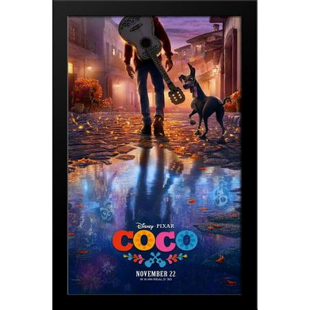 Coco 28X38 Large Black Wood Framed Movie Poster Art Print