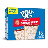 Pop-Tarts, Breakfast Toaster Pastries, Frosted Strawberry, Value Pack, 16 Ct, 27 Oz