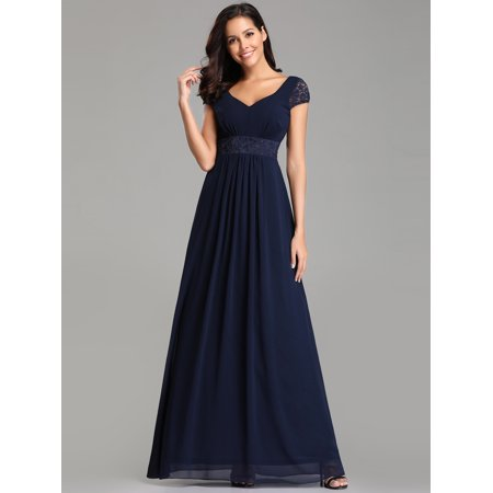 Ever-Pretty Women's Lace Short Sleeve Long Formal Evening Ball Gown Party Bridesmaid Dresses for Women 07673 S](Cap And Gown For Kindergarten)